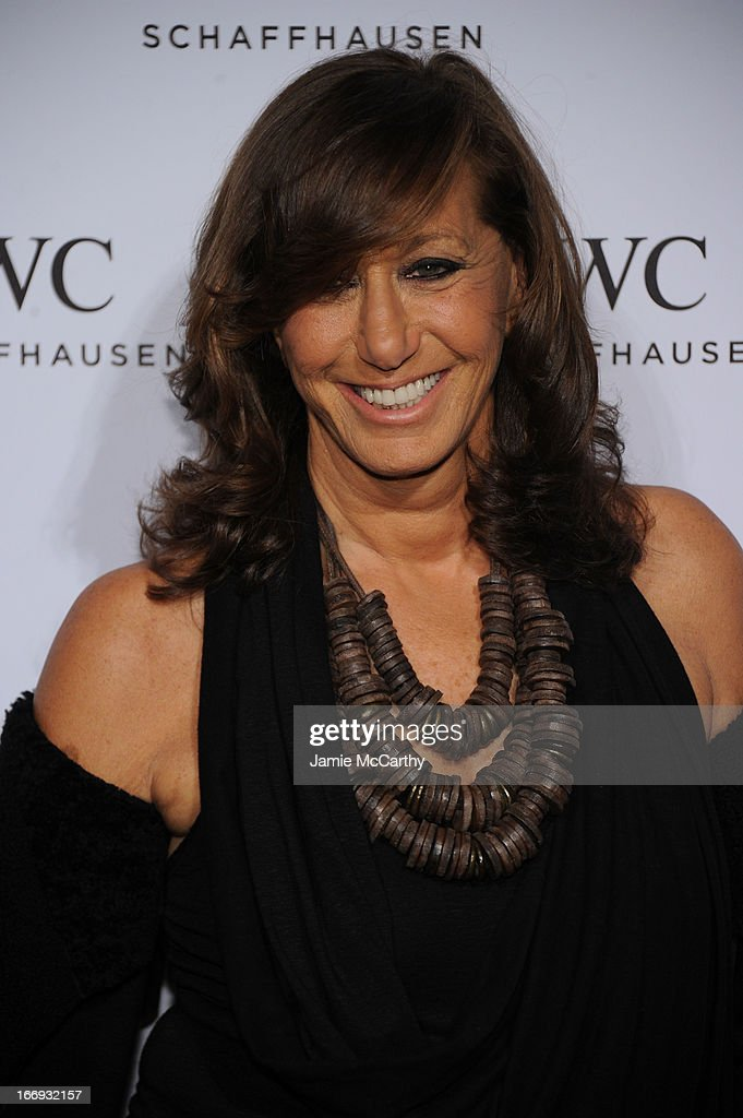 Donna Karan attends IWC and Tribeca Film Festival Celebrate 'For the Love of Cinema' on April 18, 2013 in New York City.