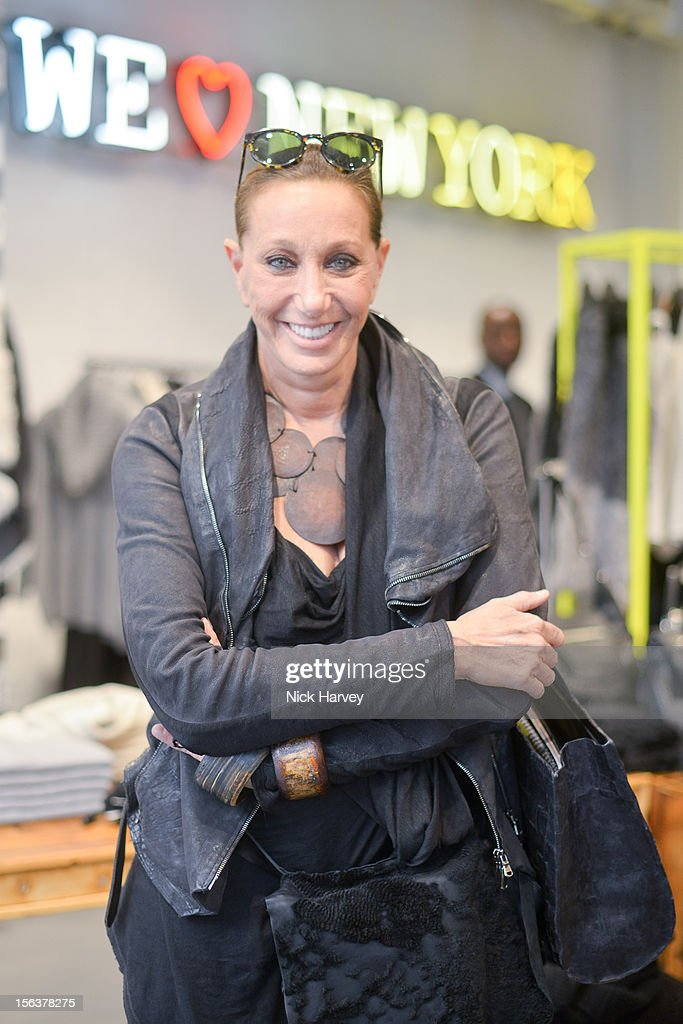 Donna Karan attends launch of Donna Karan's Heart for Haiti collection in support of The Urban Zen Artisan project at DKNY Store on November 14, 2012 in London, England.
