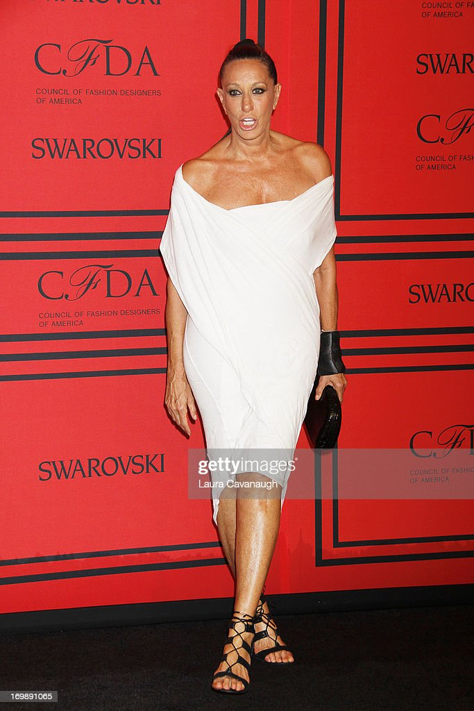 Donna Karan attends the 2013 CFDA Fashion Awards on June 3, 2013 in New York, United States.