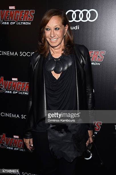 Donna Karan attends The Cinema Society Audi screening of Marvel's 'Avengers Age of Ultron' at SVA Theater on April 28 2015 in New York City