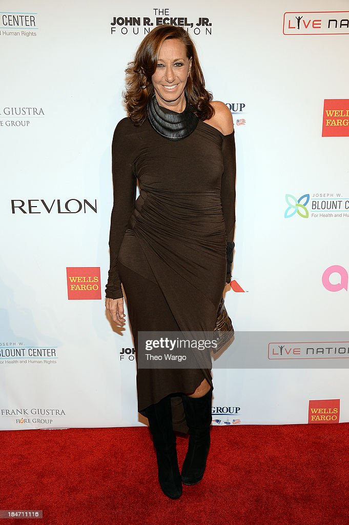 Donna Karan attends the Elton John AIDS Foundation's 12th Annual An Enduring Vision Benefit at Cipriani Wall Street on October 15, 2013 in New York City.