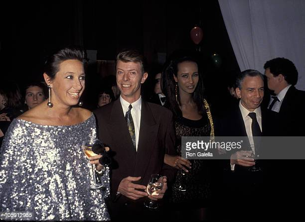 Donna Karan David Bowie Iman and Samuel Newhouse