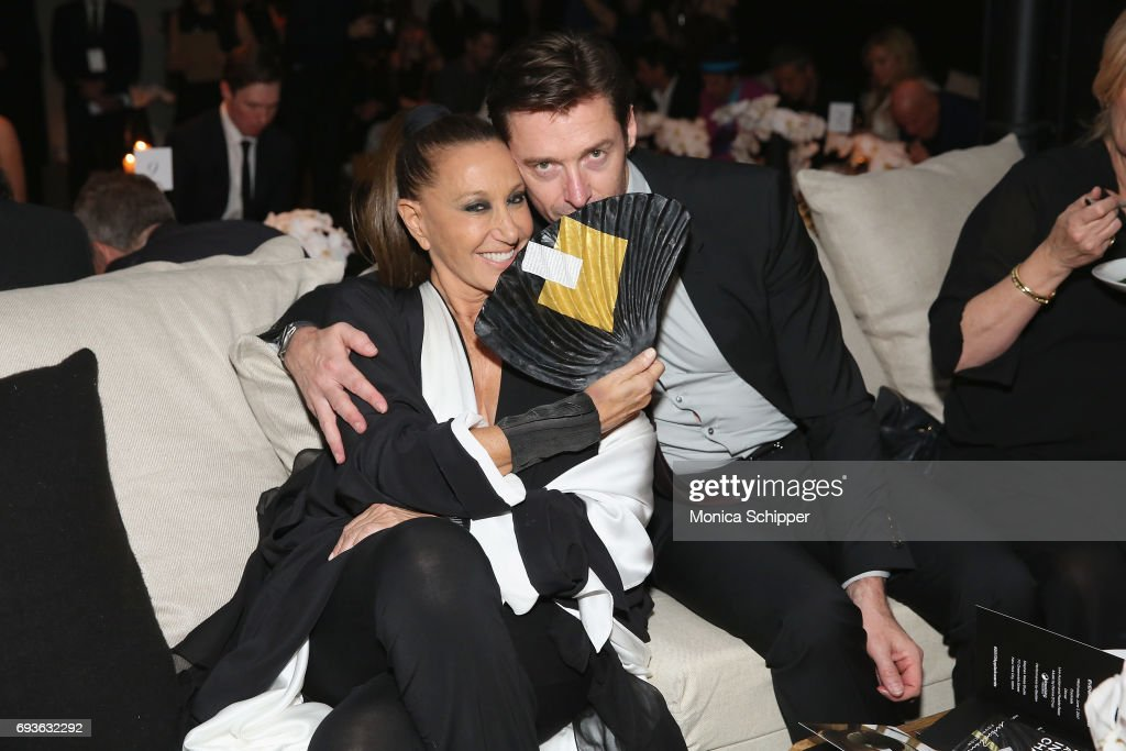 Donna Karen and Hugh Jackman attend the 2017 Stephan Weiss Apple Awards on June 7, 2017 in New York City.