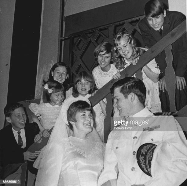 Donna Kilgore and Bryan Penner with Children in 'Sound of Music' Scene On stairway bottom to top Eric Sharp Karen Smith Pat Chance Rae Ann Phelps...