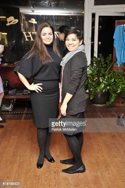 Donna LaGatta and Christine Alindogan attend BELLE PLAGE CLOTHING Holiday Party Spring 2011 Preview at Worth Worth on November 30 2010 in New York...