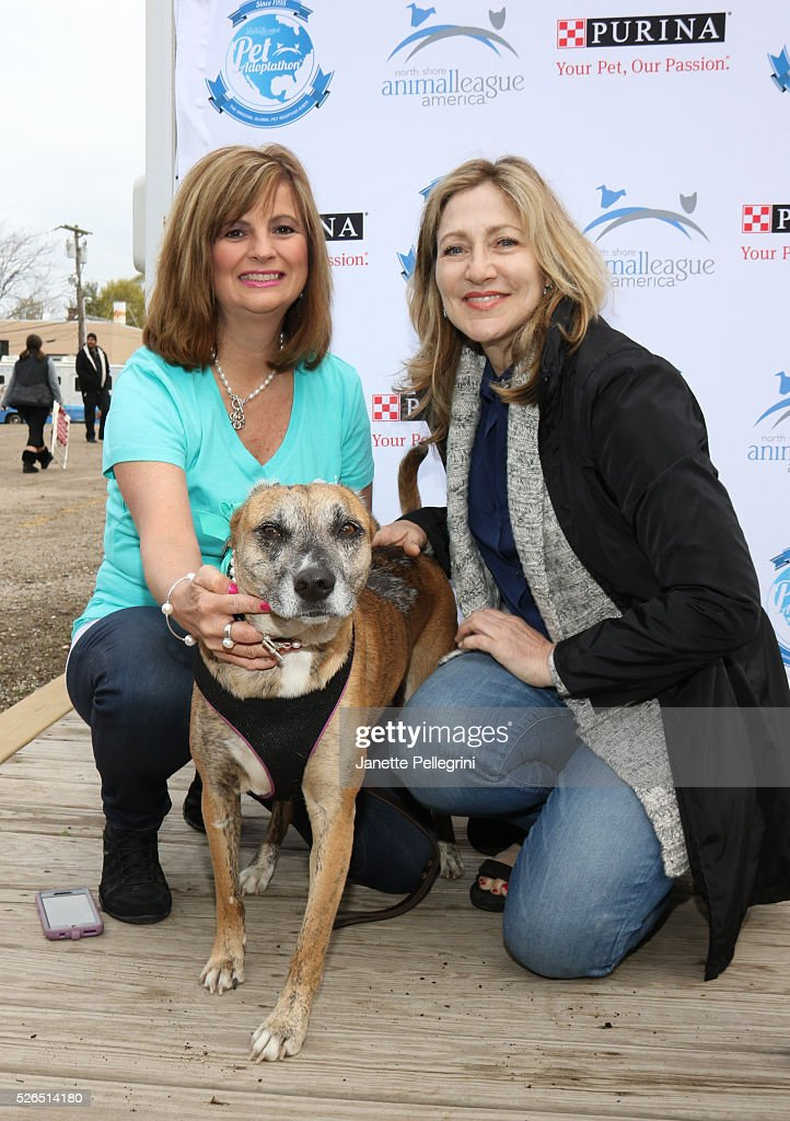 Donna Lawrence and Edie Falco attend the 22nd Annual Global Pet Adoption Event at North Shore Animal League America on April 30, 2016 in Port Washington, New York.