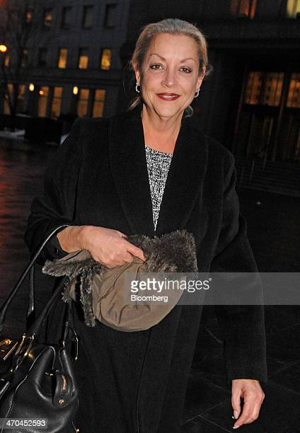 Donna Levy exits federal court in New York US on Wednesday Feb 19 2014 Levy and husband David Levy former chief executive officer of Tube Media Corp...
