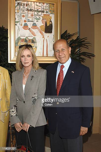 Donna Mills and Egyptian Minister of Tourism HE Mr Ahmed El Maghraby