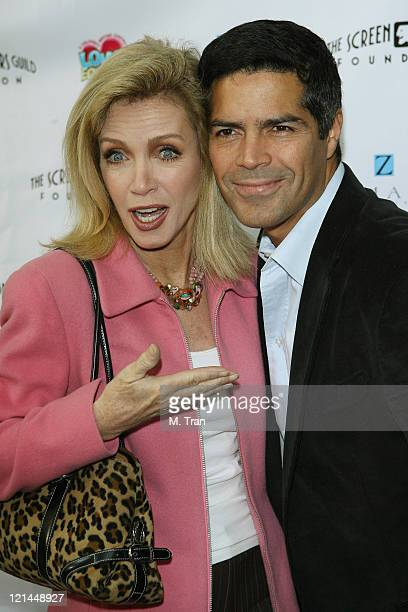 Donna Mills and Esai Morales during The Screen Actors Guild Foundation and Zimand Entertianment Host Los Angeles Children's Love Equals Writing...