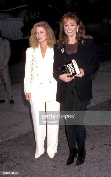 Donna Mills and Jackie Collins during Party For Jackie Collins' 'American Star' at Spagos Restaurant in West Hollywood CA United States