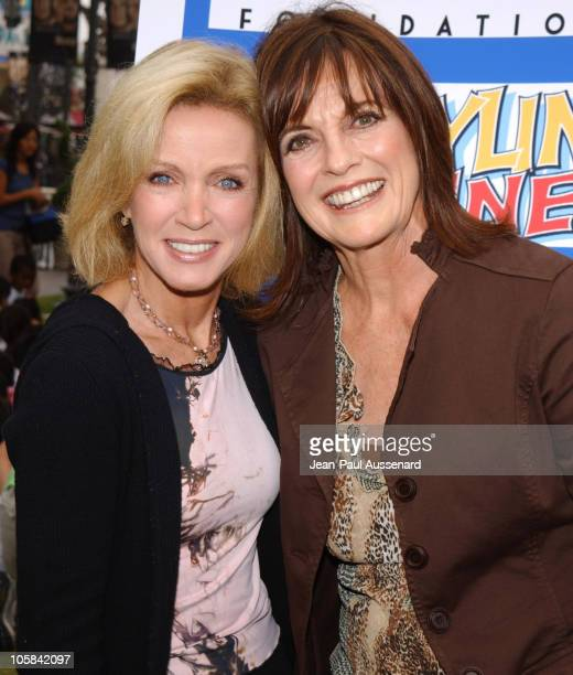 Donna Mills and Linda Gray during Screen Actors Guild Foundation and Verizon Announce New Season of Storyline Online at The Grove in West Los Angeles...