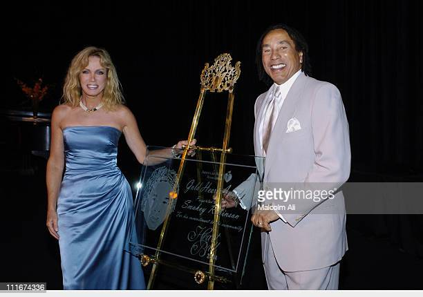 Donna Mills and Smokey Robinson during 27th Annual Los Angeles Heart Ball at The Beverly Hilton in Beverly Hills California United States