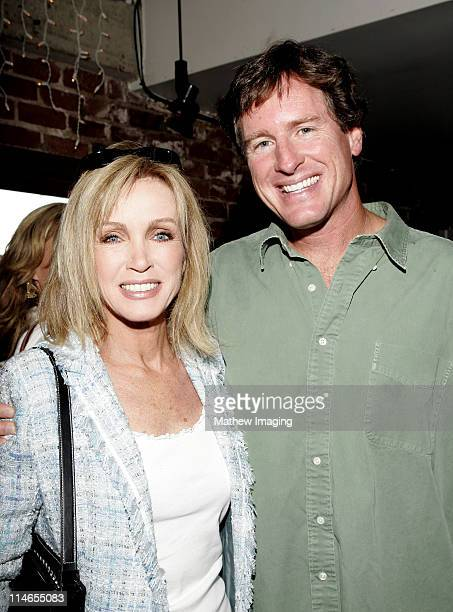 Donna Mills and Steve Bellamy president/founder of The Tennis Channel *Exclusive Coverage*