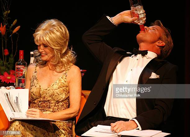 Donna Mills and Tom Gregory during 'Valley of the Dolls' Reading and DVD Debut Show and After Party at Renberg Theater in Hollywood California United...