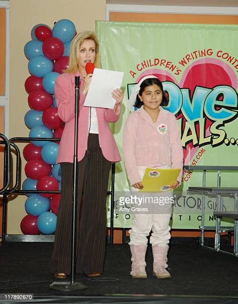 Donna Mills and writing prize winner during The Screen Actors Guild and Zimand Entertainment Host PrizeWinning Ceremony for LA Children's Love Equals...