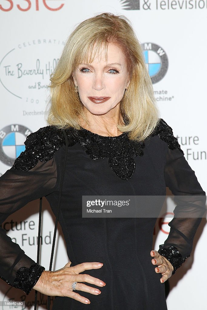Donna Mills arrives at the Beverly Hills Hotel - 100th Anniversary Celebration held on June 16, 2012 in Beverly Hills, California.