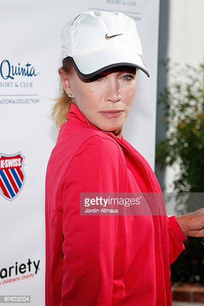 Donna Mills attends the 6th Annual KSwiss Desert Smash Day 1 at La Quinta Resort and Club on March 9 2010 in La Quinta California