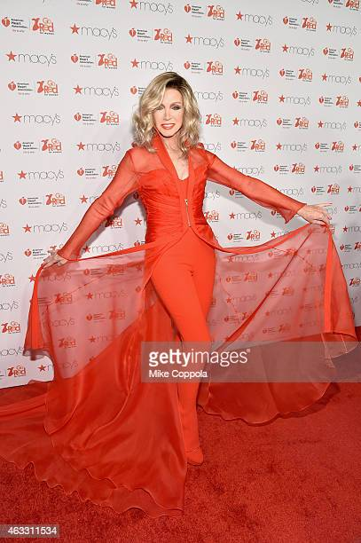 Donna Mills attends the Go Red For Women Red Dress Collection 2015 presented by Macy's fashion show during MercedesBenz Fashion Week Fall 2015 at...