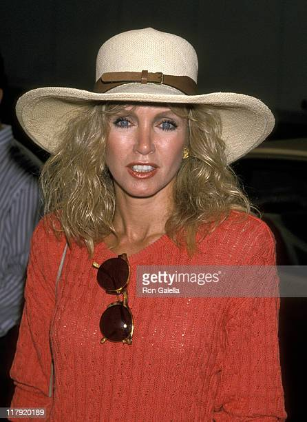 Donna Mills during 1989 US Tennis Open at Flushing Meadows Park in New York City New York United States