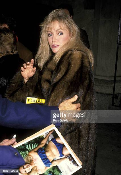 Donna Mills during Play Performance of 'Grand Hotel' at Martin Beck Theater in New York City New York United States