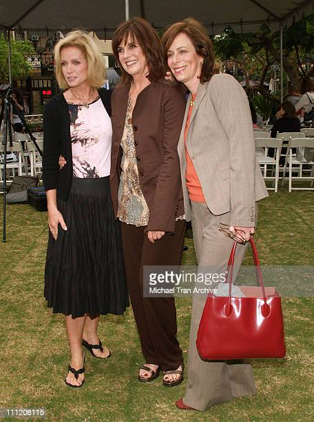 Donna Mills Linda Gray and Jane Kaczmarek during The Screen Actors Guild Presents 'Premiere Literary Event' at The Grove in Los Angeles California...