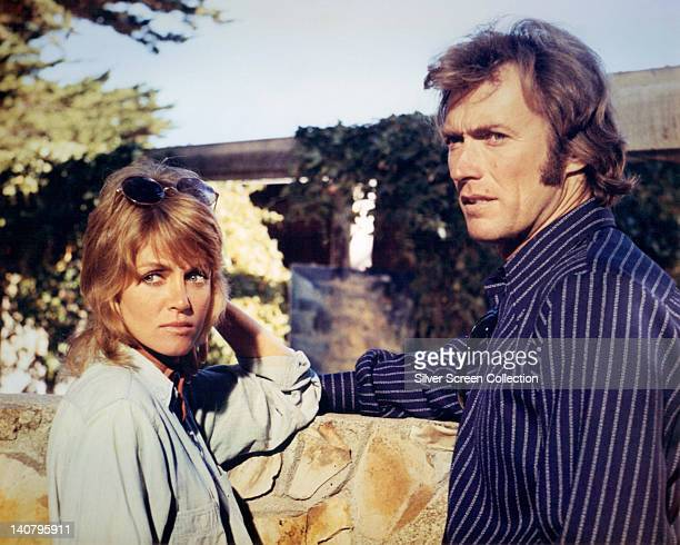Donna Mills US actress and Clint Eastwood US actor in a publicity still issued for the film 'Play Misty for Me' 1971 The psychological thriller...