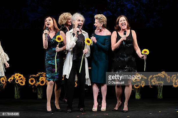 Donna Murphy Christine Ebersole Mary Beth Peil Marin Mazzie and Karen Ziemba take their curtain call during the 20th anniversary of 'Nothing Like a...