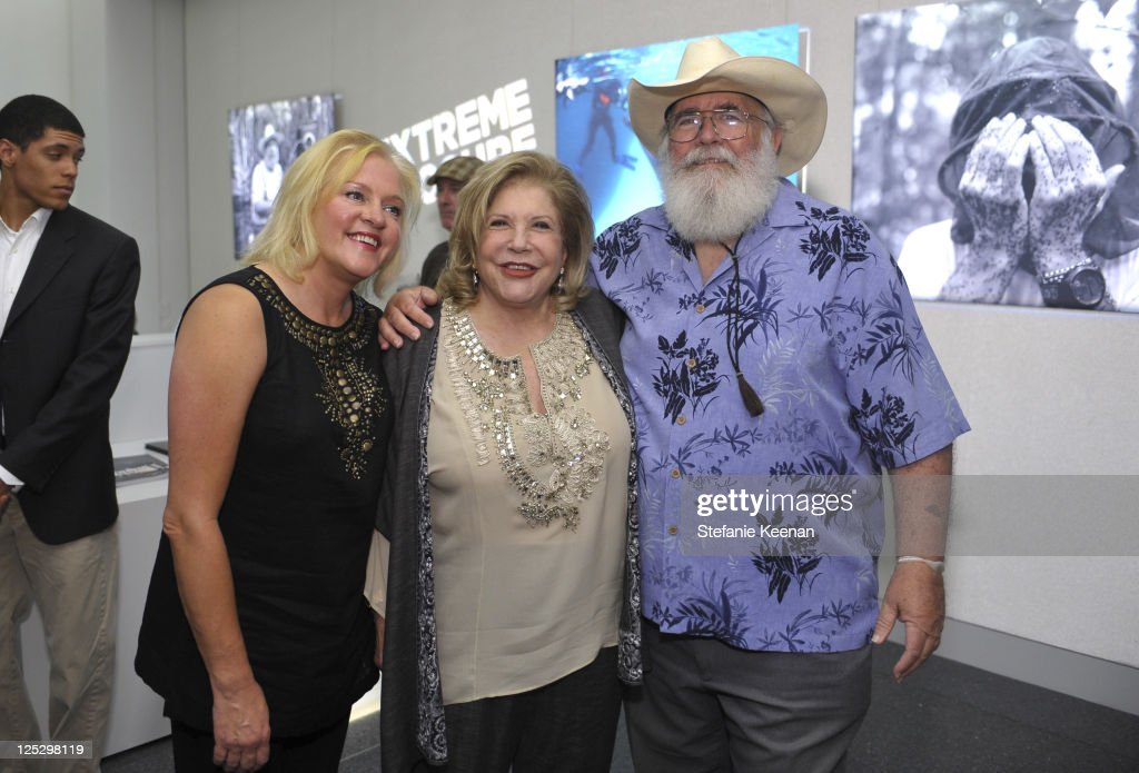 Donna O'Meara, Wallis Annenberg and Clyde Butcher attend the opening Of Extreme Exposure Exhibit at Annenberg Space For Photography on October 22, 2010 in Century City, California.