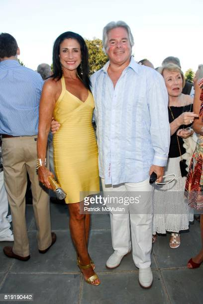 Donna Soloway and Dick Soloway attend Alzheimer's Association Rita Hayworth Gala Hamptons Kick Off at a Private Residence on July 30th 2010 in East...