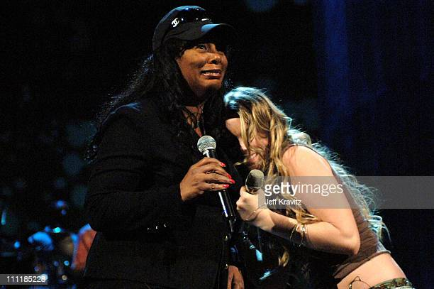 Donna Summer and Joss Stone during VH1 Save The Music A Concert To Benefit The VH1 Save The Music Foundation Day 2 Rehearsals at Beacon Theatre in...