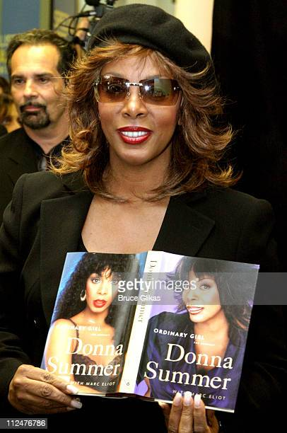 Donna Summer during Donna Summer Signs Copies of Her New Book 'Ordinary Girl' and New CD 'The Journey' at Barnes and Noble in New York City New York...