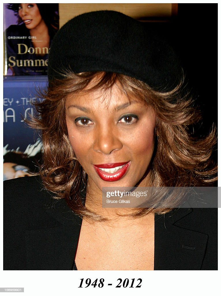 <a gi-track='captionPersonalityLinkClicked' href=/galleries/search?phrase=Donna+Summer&family=editorial&specificpeople=209133 ng-click='$event.stopPropagation()'>Donna Summer</a> during <a gi-track='captionPersonalityLinkClicked' href=/galleries/search?phrase=Donna+Summer&family=editorial&specificpeople=209133 ng-click='$event.stopPropagation()'>Donna Summer</a> Signs Copies of Her New Book 'Ordinary Girl' and New CD 'The Journey' at Barnes and Noble on October 14, 2003 in New York City, New York, United States. <a gi-track='captionPersonalityLinkClicked' href=/galleries/search?phrase=Donna+Summer&family=editorial&specificpeople=209133 ng-click='$event.stopPropagation()'>Donna Summer</a> died in 2012.