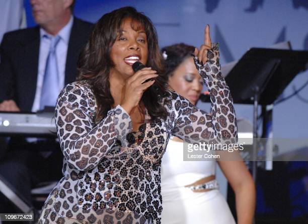 Donna Summer performs during 14th Annual Race to Erase MS Themed 'Dance to Erase MS' Show at Hyatt Regency Century Plaza in Century City California...