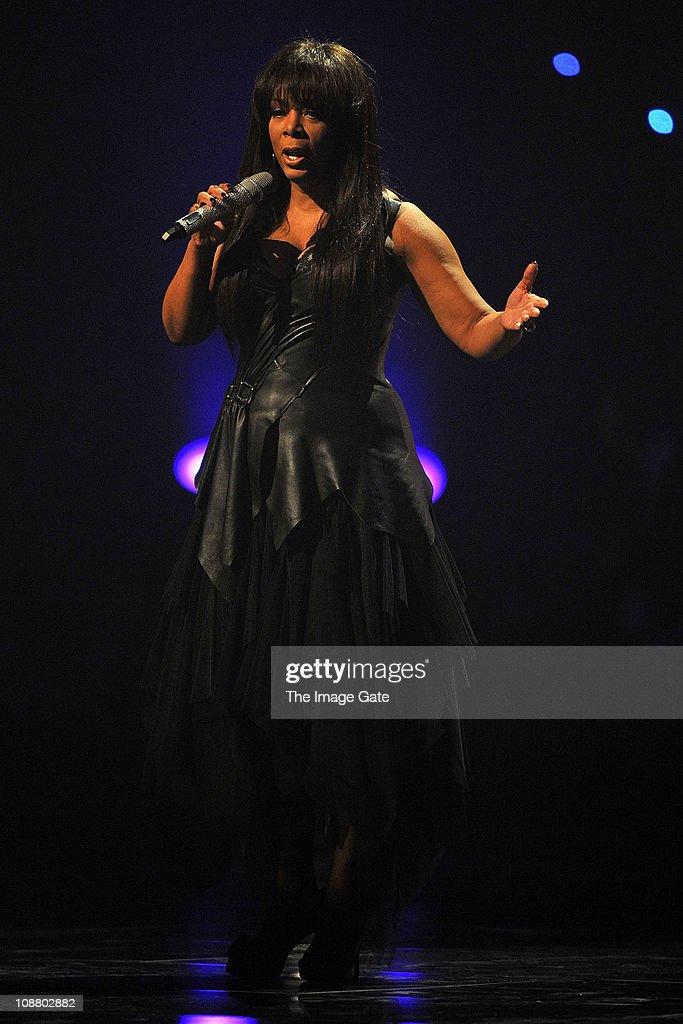 Donna Summer performs during Art On Ice at Hallenstadion on February 3, 2011 in Zurich, Switzerland.