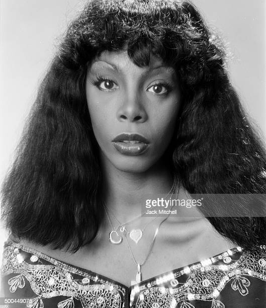 Donna Summer photographed in 1976 just after her hit 'Love to Love You Baby' became a platinum single