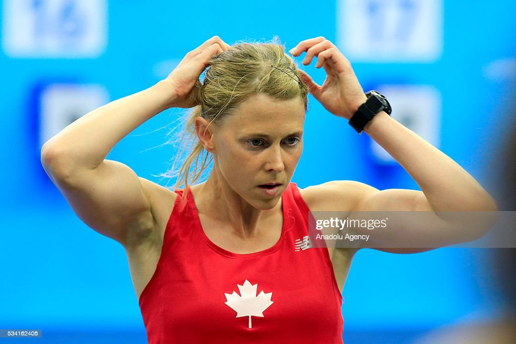 Donna Vakalis of Canada is seen the Combined of the Women Qualifications at the UIPM senior modern pentathlon world championships in Moscow, Russia, on May 25, 2016.