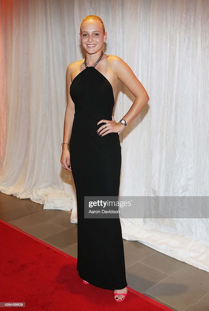 Donna Vekic arrives at 25th Annual Chris Evert/Raymond James ProCelebrity Tennis Classic Gala Arrivals at Boca Raton Resort on November 22 2014 in...