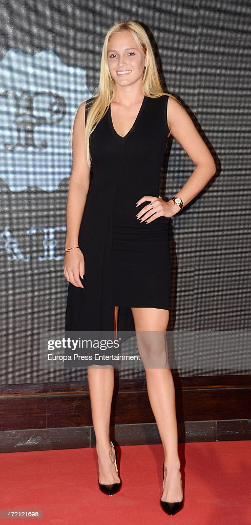 Donna Vekic attend the player party during day two of the Mutua Madrid Open tennis tournament on May 3 2015 in Madrid Spain