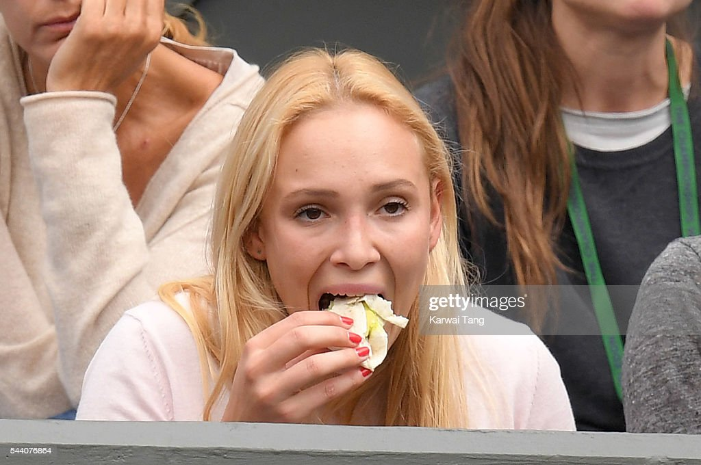 Donna Vekic attends day five of the Wimbledon Tennis Championships at Wimbledon on July 01, 2016 in London, England.