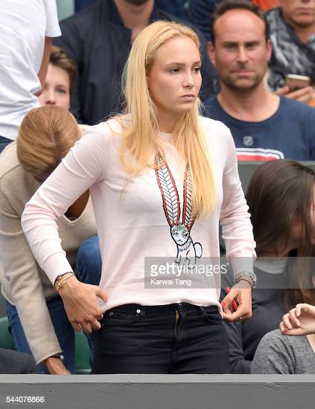 Donna Vekic attends day five of the Wimbledon Tennis Championships at Wimbledon on July 01 2016 in London England
