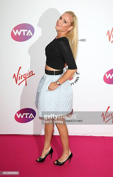 Donna Vekic attends the WTA PreWimbledon party at Kensington Roof Gardens on June 19 2014 in London England