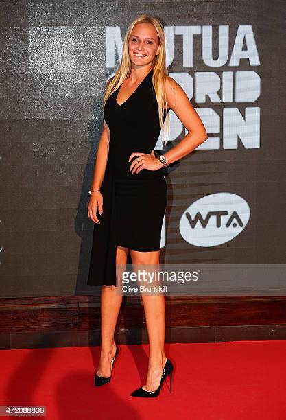 Donna Vekic of Croatia arrives at the player party during day two of the Mutua Madrid Open tennis tournament at the Caja Magica on May 3 2015 in...