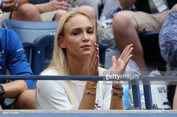 Donna Vekic of Croatia attends the men's final at Arthur Ashe Stadium on day 14 of the 2016 US Open at USTA Billie Jean King National Tennis Center...