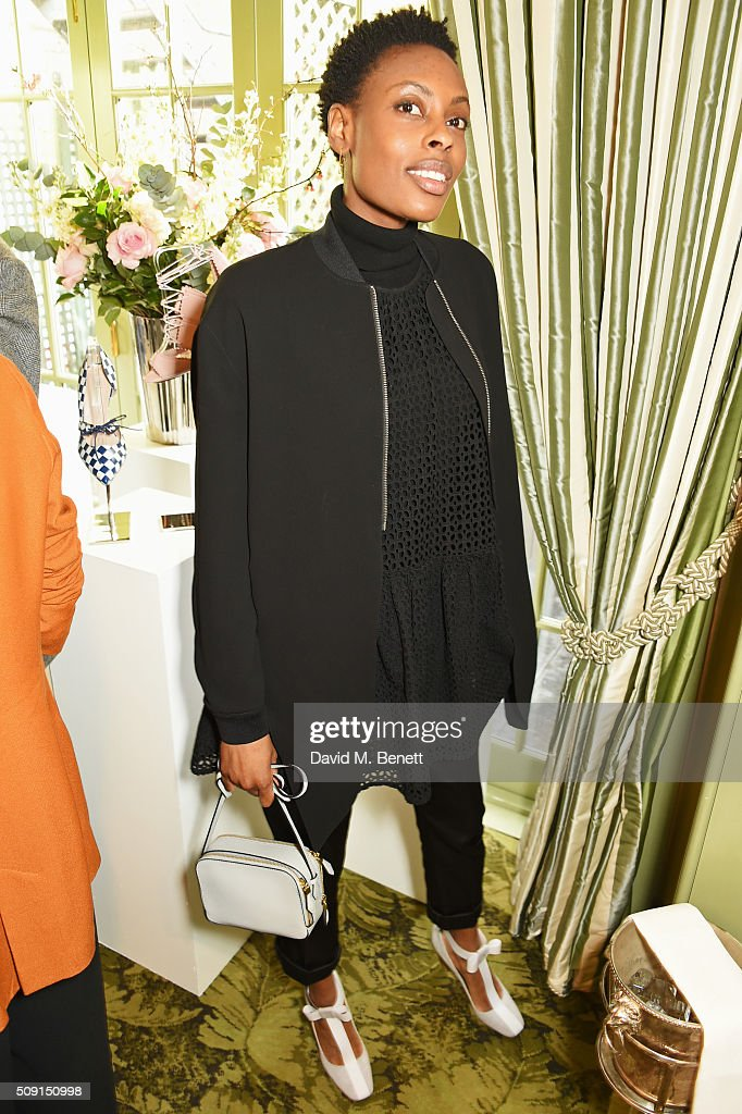 Donna Wallace attends the L.K.Bennett x Bionda Castana lunch at Mark's Club on February 9, 2016 in London, England.