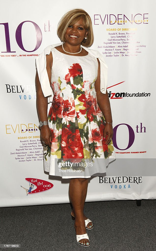 Donna Williams attends Evidence, A Dance Company Hosts 10th Annual 'On Our Toes'... In The Hamptons Summer Benefit at The Hayground School on August 17, 2013 in Bridgehampton, New York.