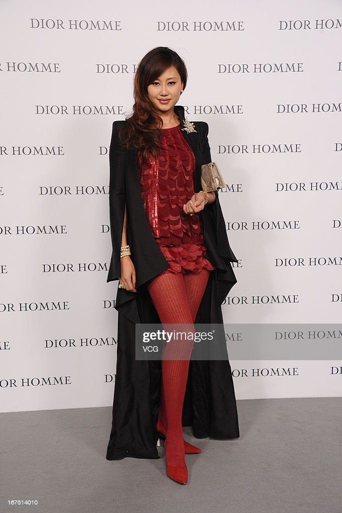 Donna Xie attends the Dior Homme F/W 2013 Menswear Collection Show on April 25, 2013 in Beijing, China.
