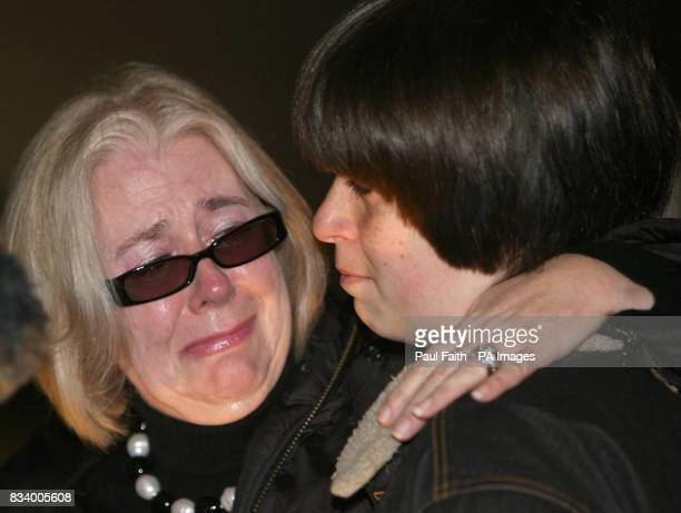 DonnaMaria Barker who lost her son James in the Omagh bomb explosion leaves Belfast High Court with her son Oliver 13