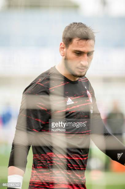 Donnarumma Gianluigi during the Italian Serie A football match Pescara vs Milan on April 02 in Pescara Italy