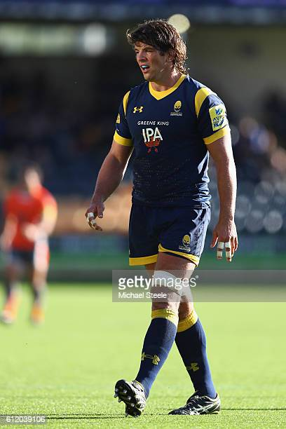 Donncha O'Callaghan of Worcester during the Aviva Premiership match between Worcester Warriors and Newcastle Falcons at Sixways Stadium on October 2...
