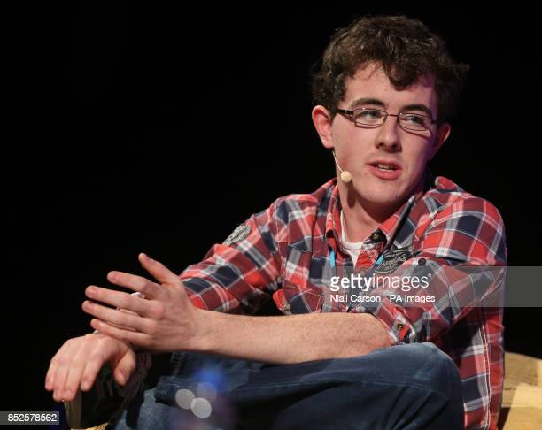 Donncha O'Cearbhaill speaking about the future of Bitcoin at the Dublin web summit being held at the RDS in Dublin